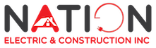 Nation Electric & Construction Inc. Mobile Logo